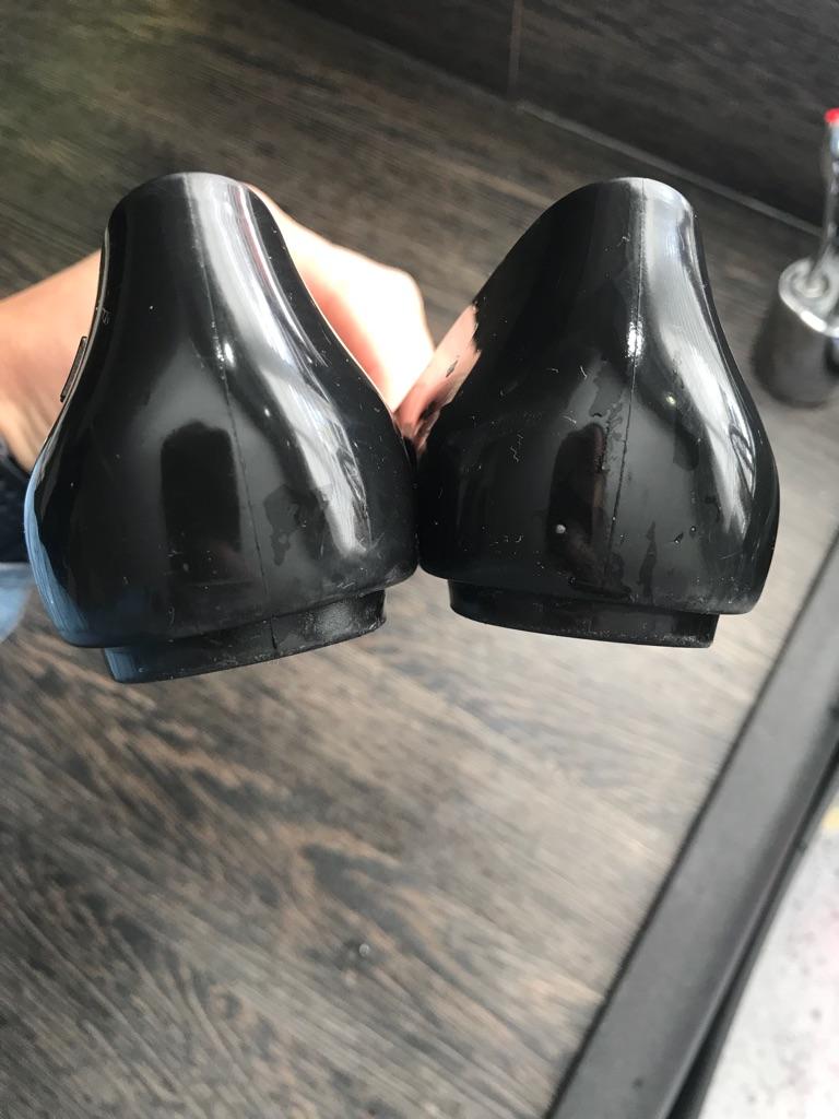 Girls Genuine Black Vivienne Westwood Shoes - size 11