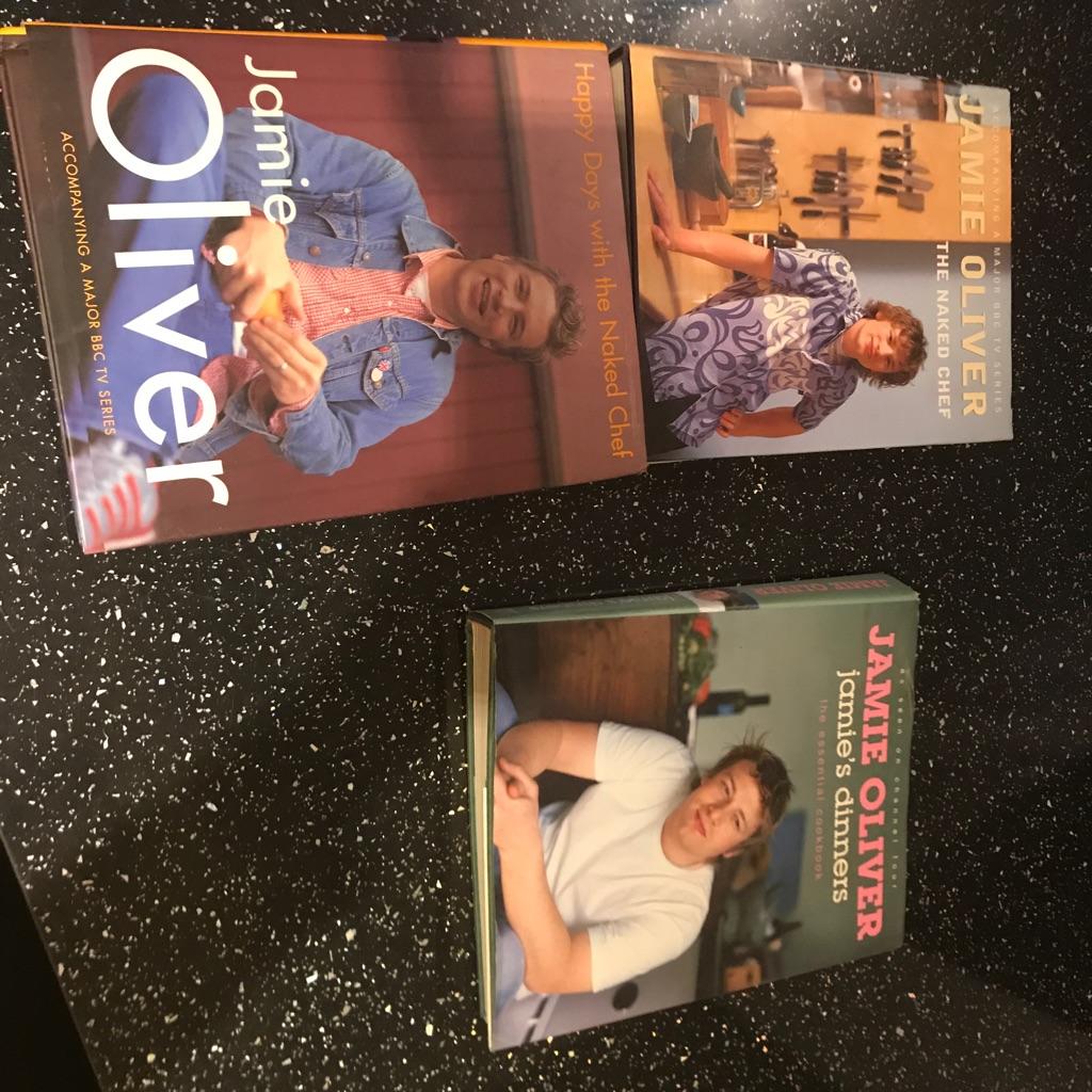 3 x Jamie Oliver cookbooks