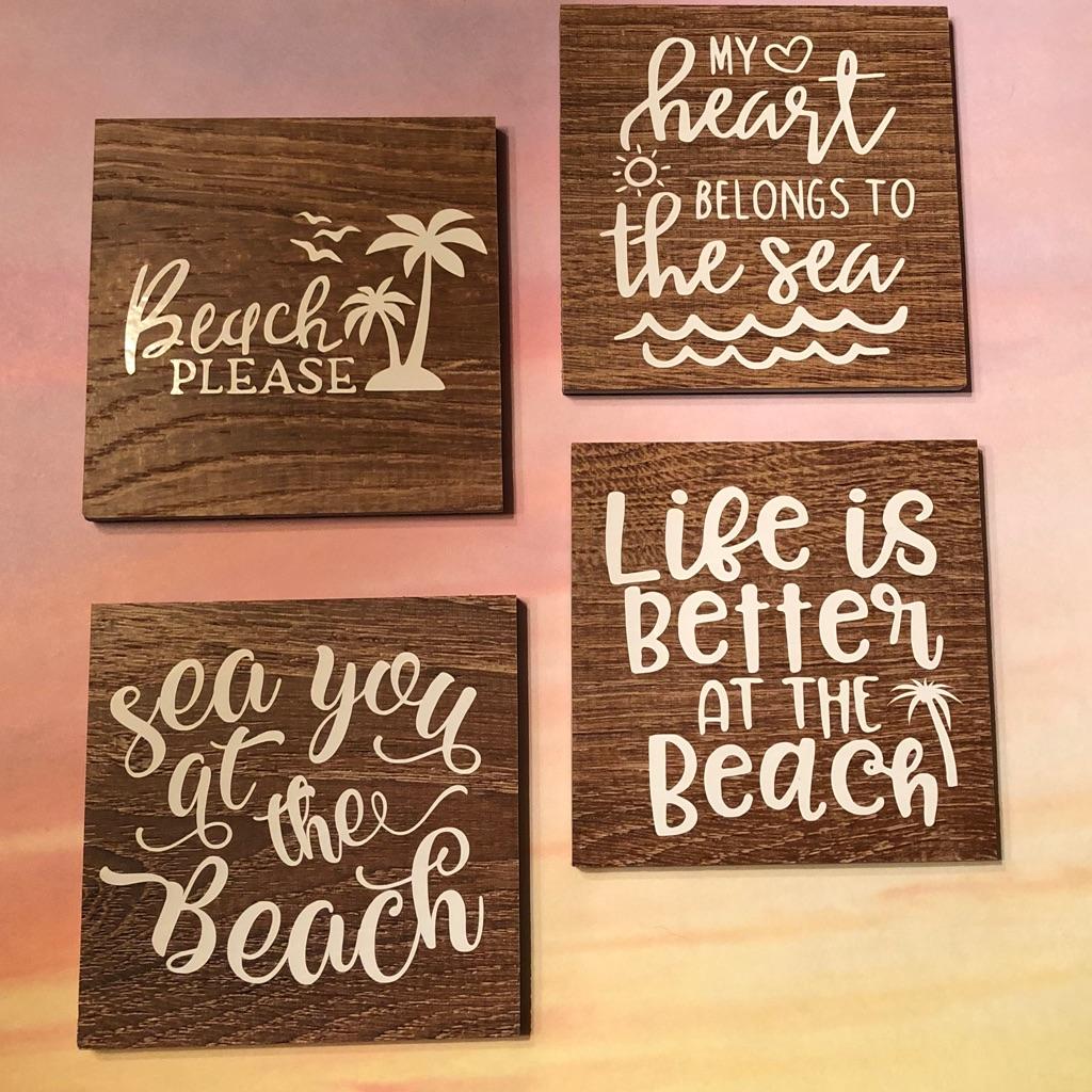 Beach coaster set
