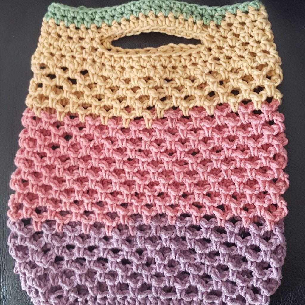Hand crocheted mesh bags