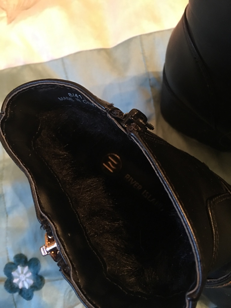 Ladies Leather River Island Boots Size 8