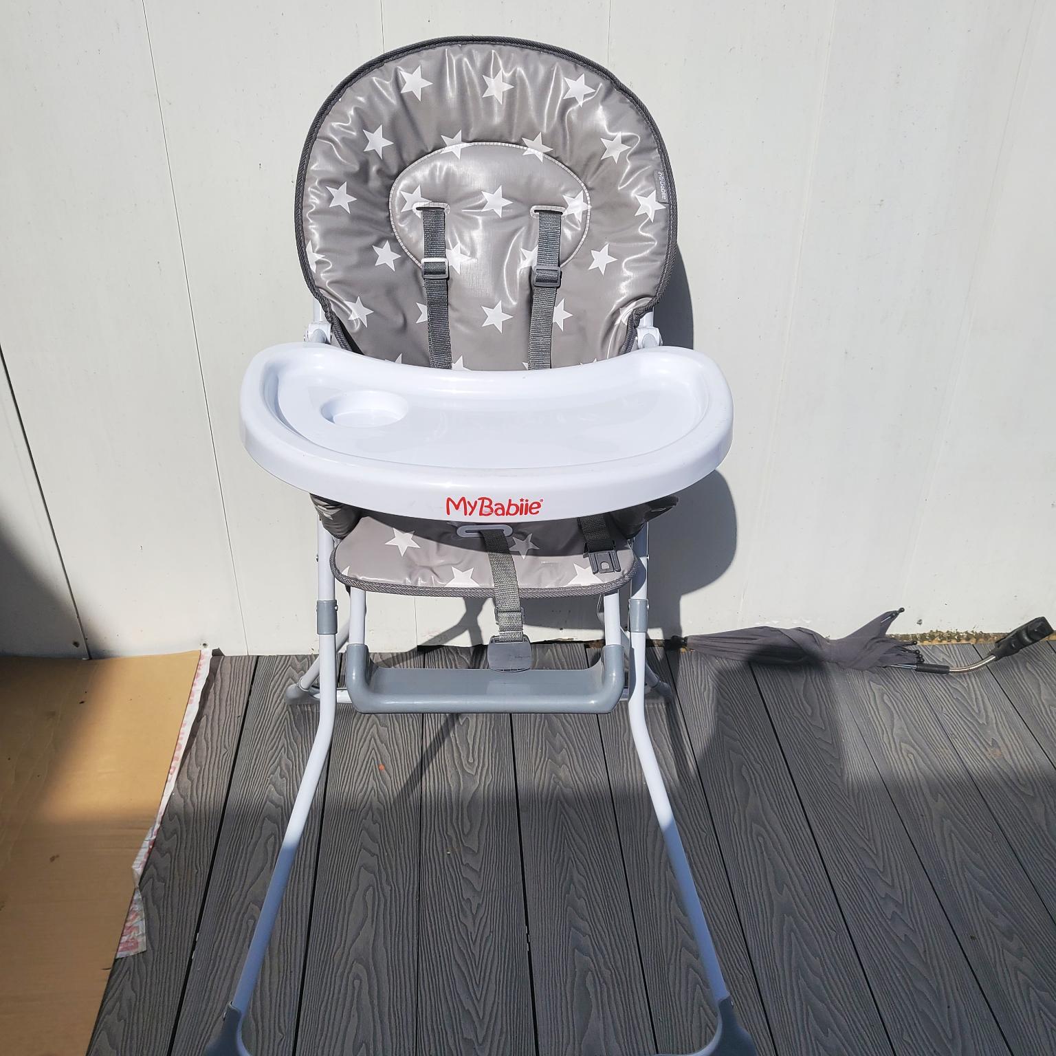 Grey star highchair