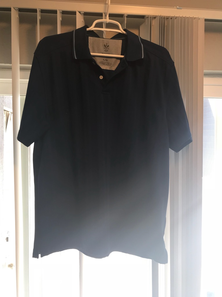 Men's arrow navy blue polo