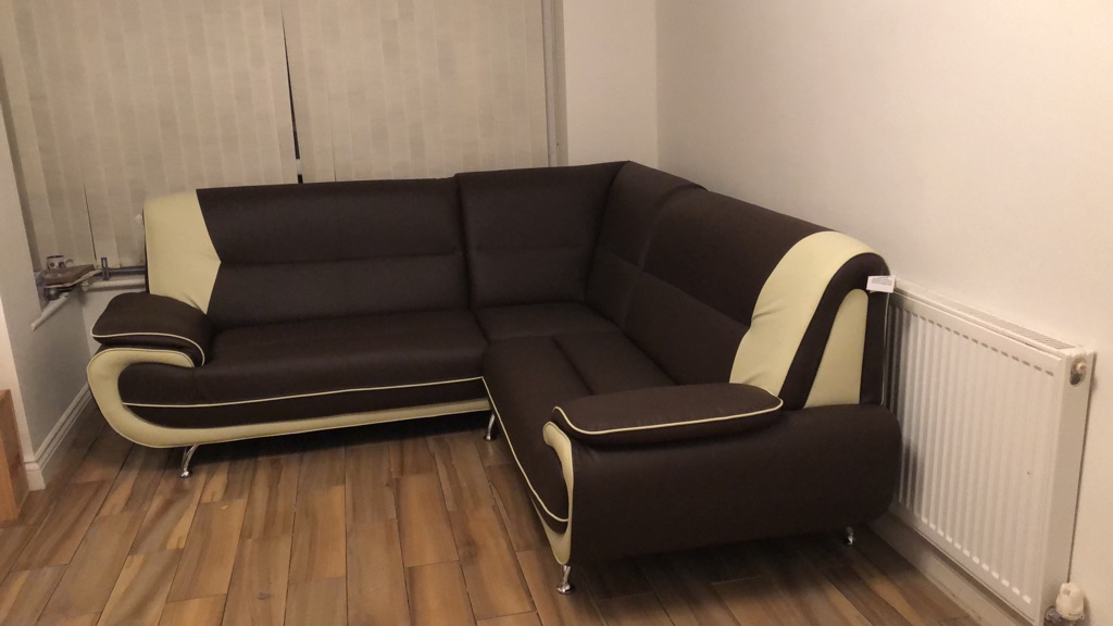 Corner leather sofa brand new