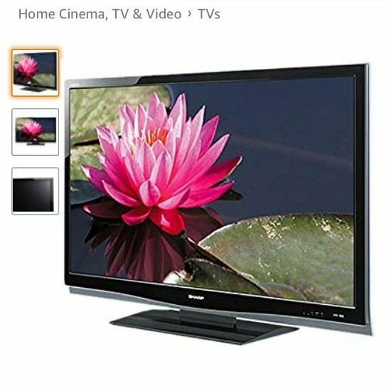 Sharp aquos 46 inch LCD televison with remote control