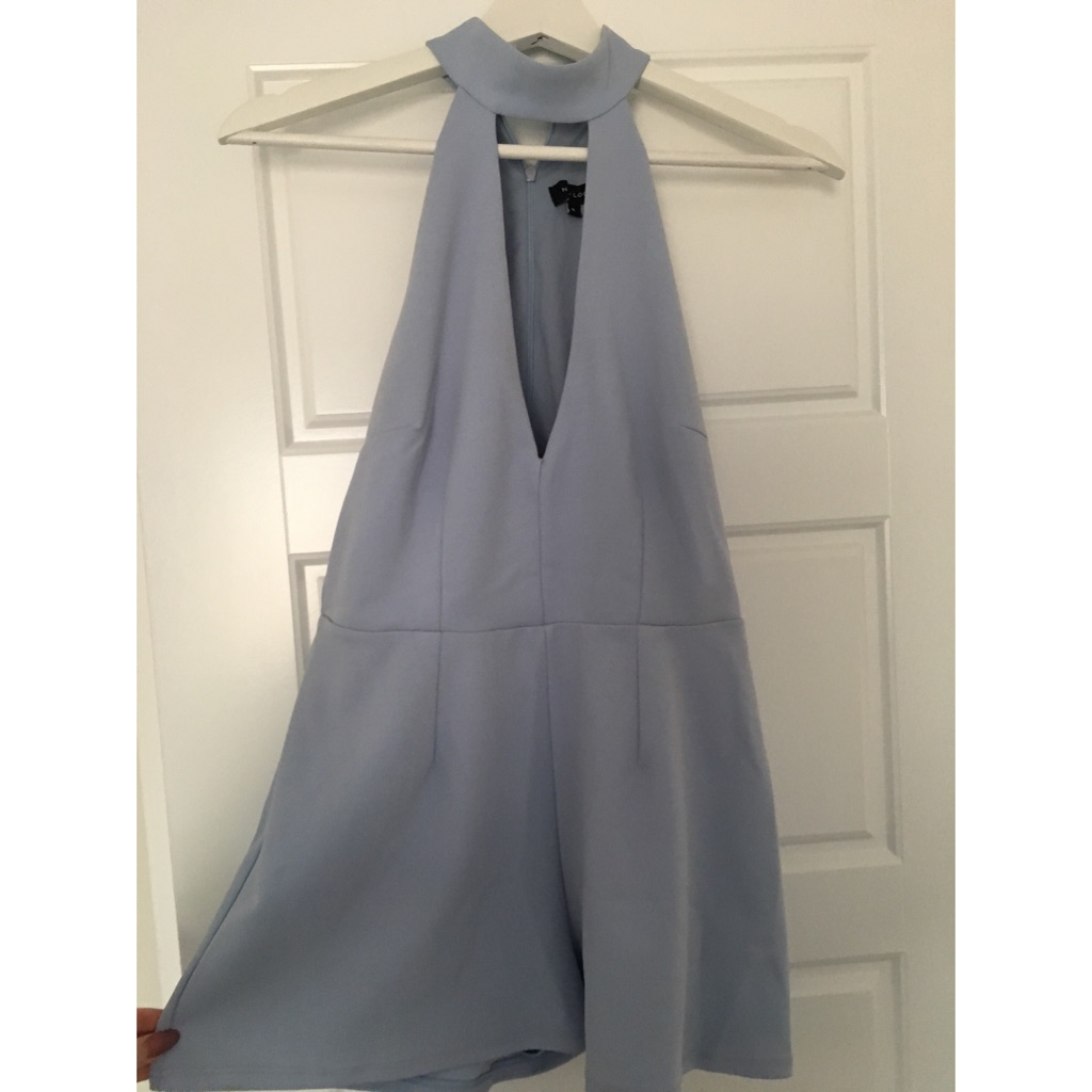 New Look Playsuit. Baby Blue. Size 8.