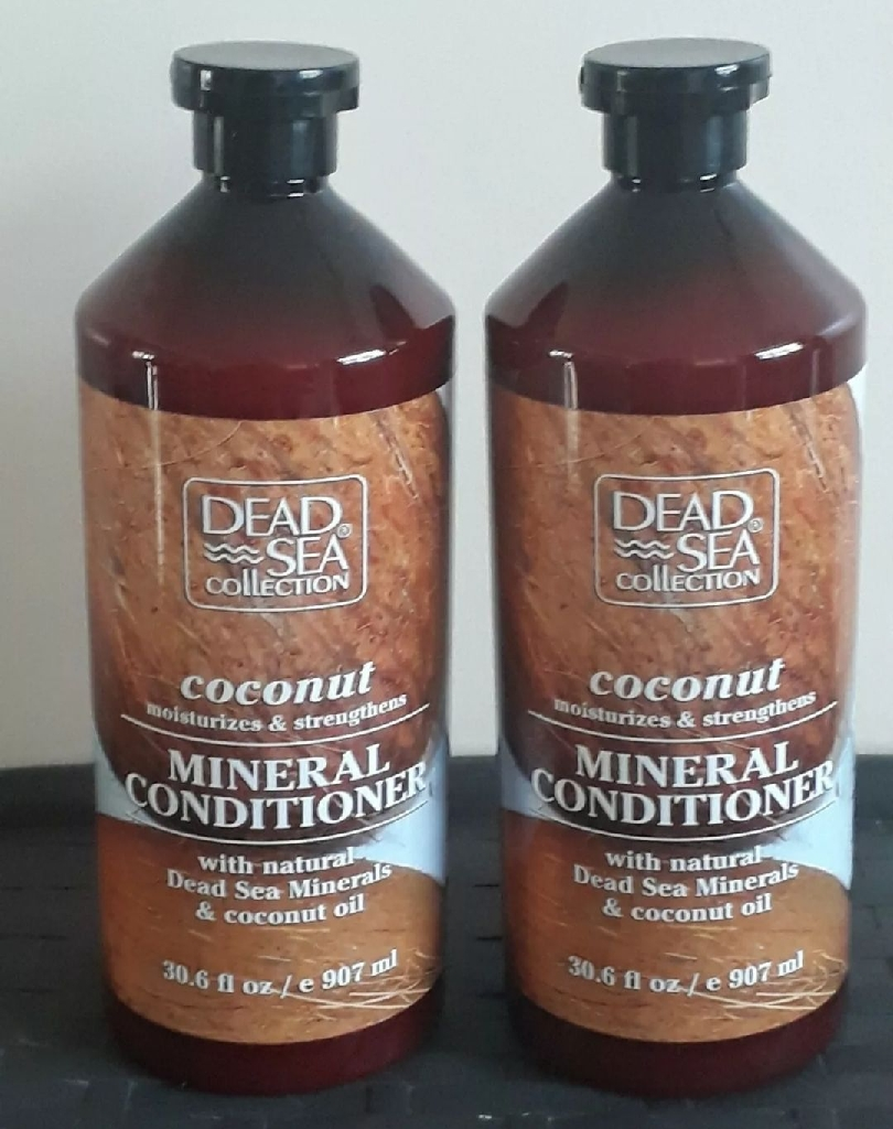 2 × DEAD SEA COLLECTION COCONUT MOISTURISING & STRENGTHEN MINERAL CONDITIONER 907ML EACH (2×907ML) WITH NATURAL DEAD SEA MINERAL & COCONUT OIL . Condition is New. Dispatched with Royal Mail
