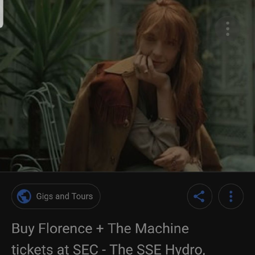 2 x standing Florence and the Machine tickets SSE Hydro
