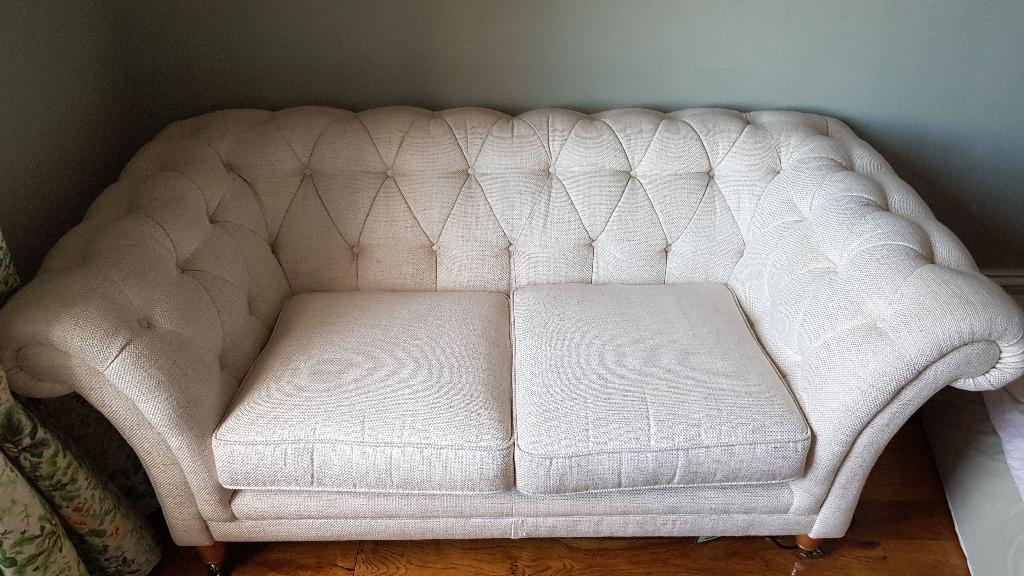 Laura Ashley Hudson Upholstered 2 Seater Sofa - Dalton Off White