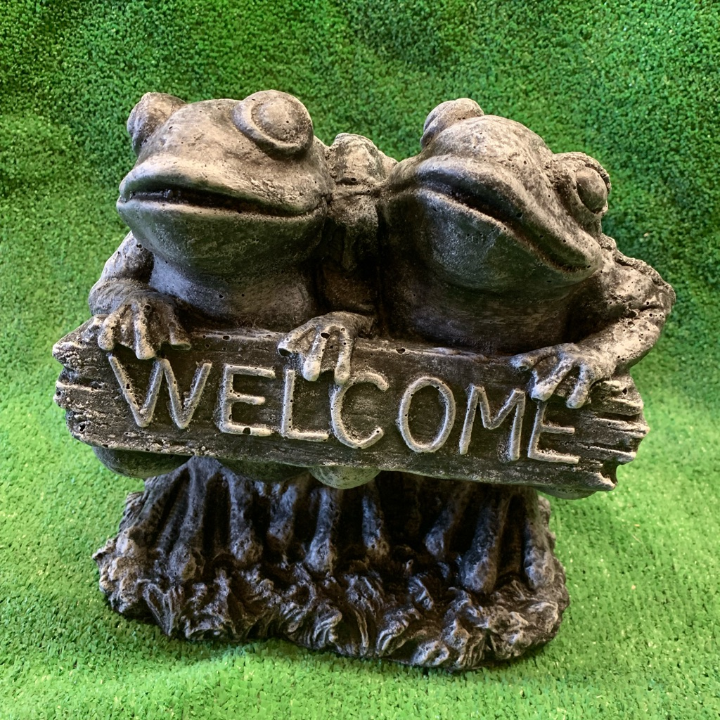 Concrete welcome frogs