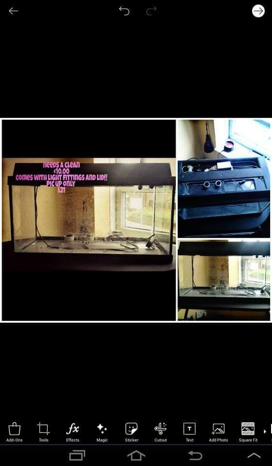 2_2fish tank ..£10.00 for black 1..£5.00 for small