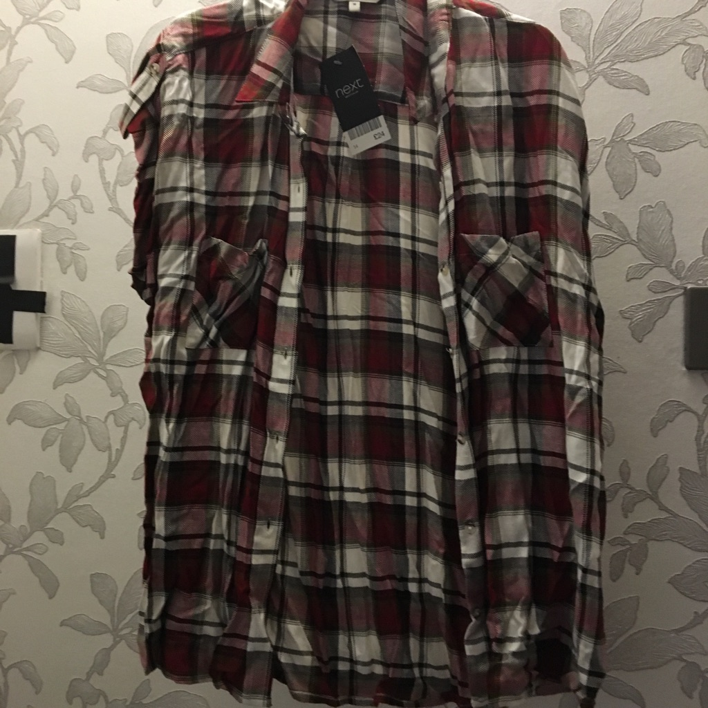 Size 12 checked short sleeved shirt