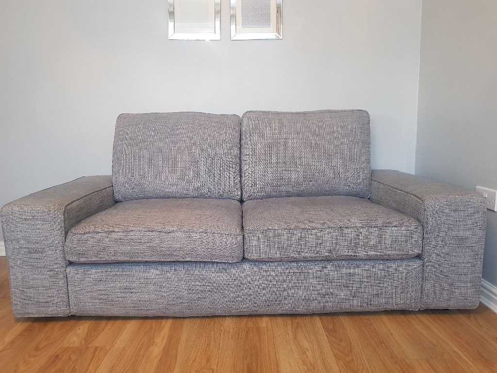 Ikea 4 and 3 seater sofas
