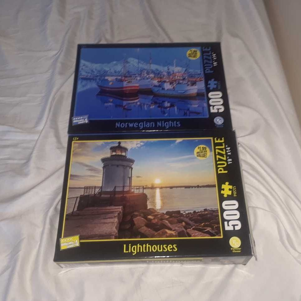 Two 500 piece puzzles