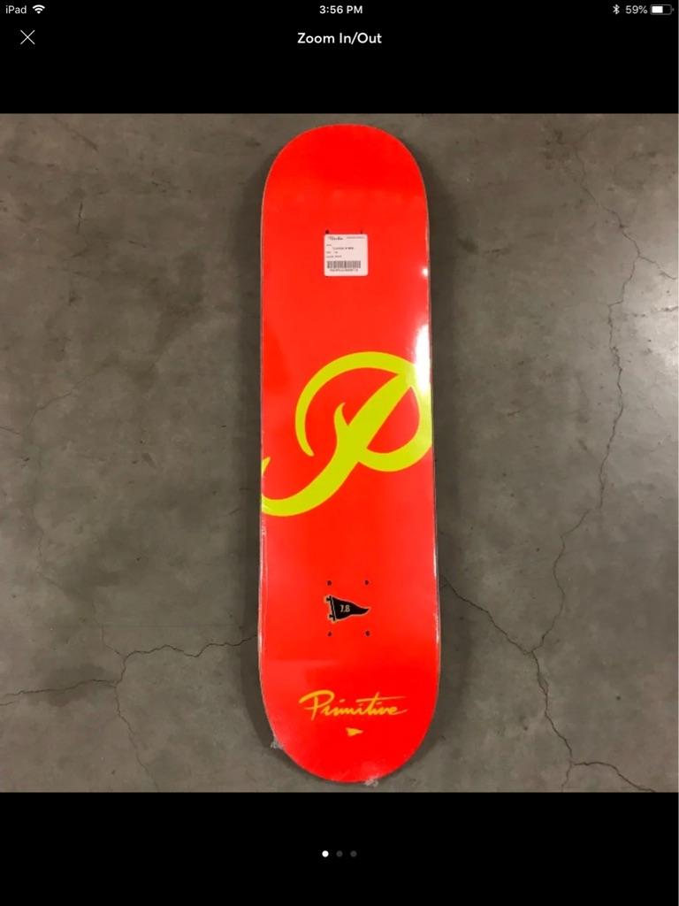 Primitive Skateboarding Red P Logo Deck New