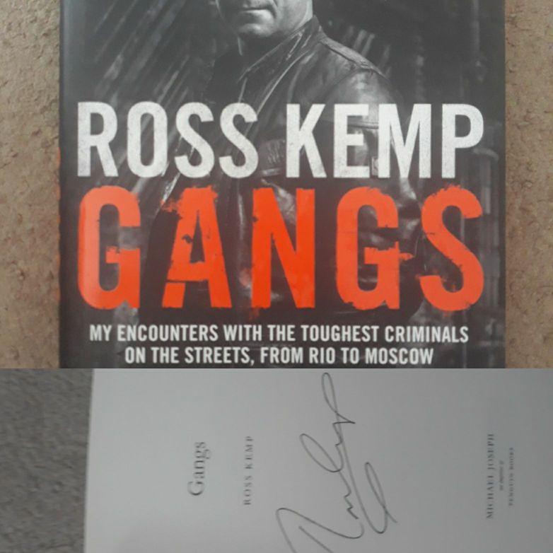 Ross Kemp Gangs signed hardback book