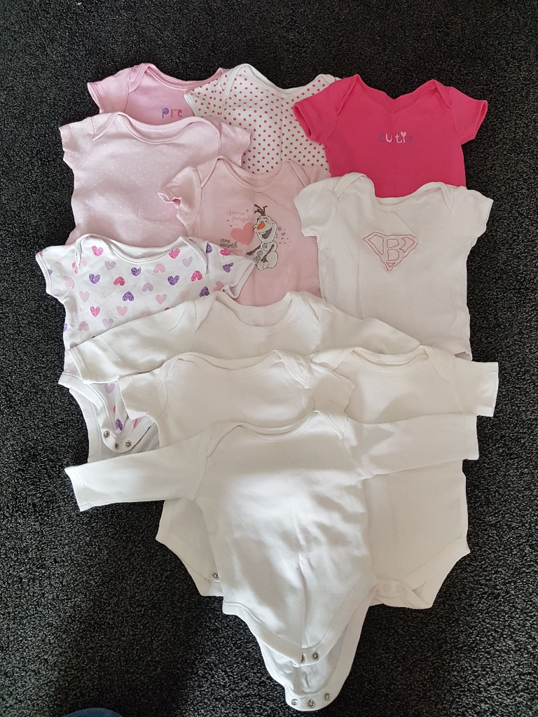 3-6 Month Girls Baby grow and Vest Bundle