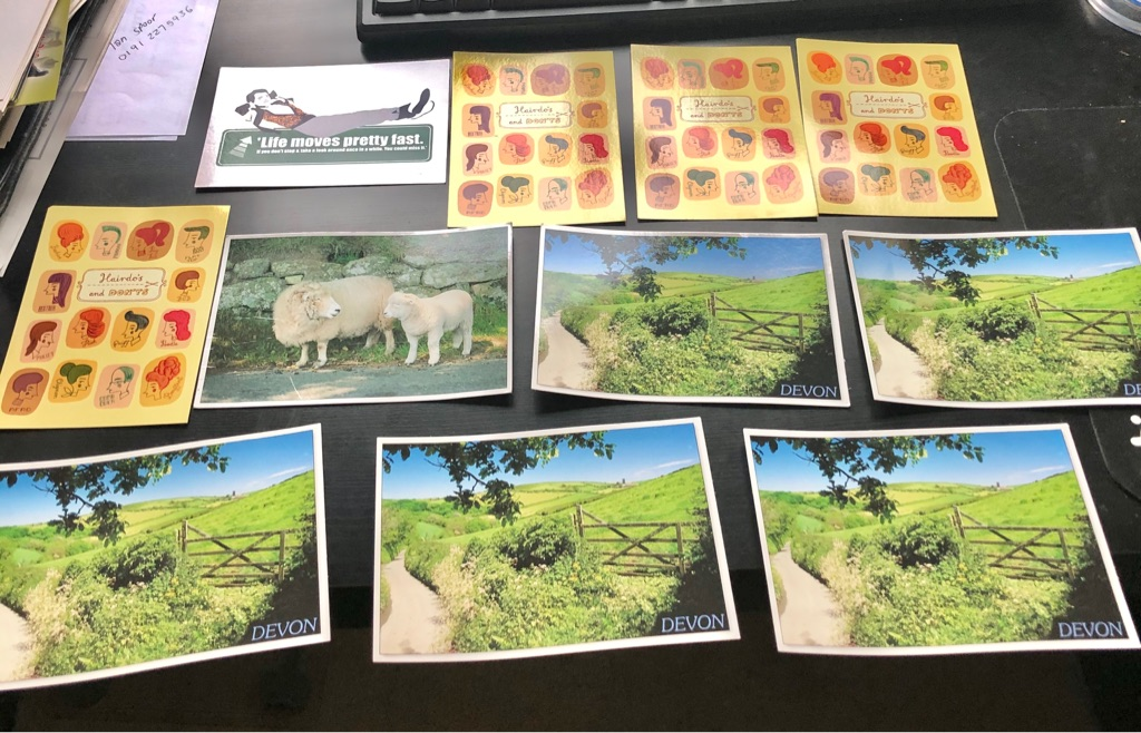 SET OF 76 POST CARDS