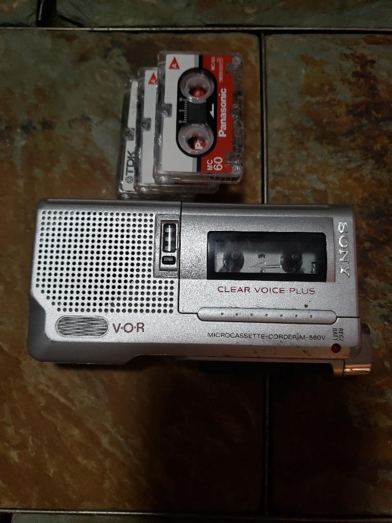 Sony micro cassette recorder