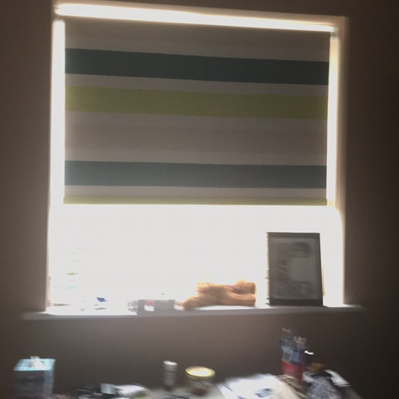 Roller blind with fixings