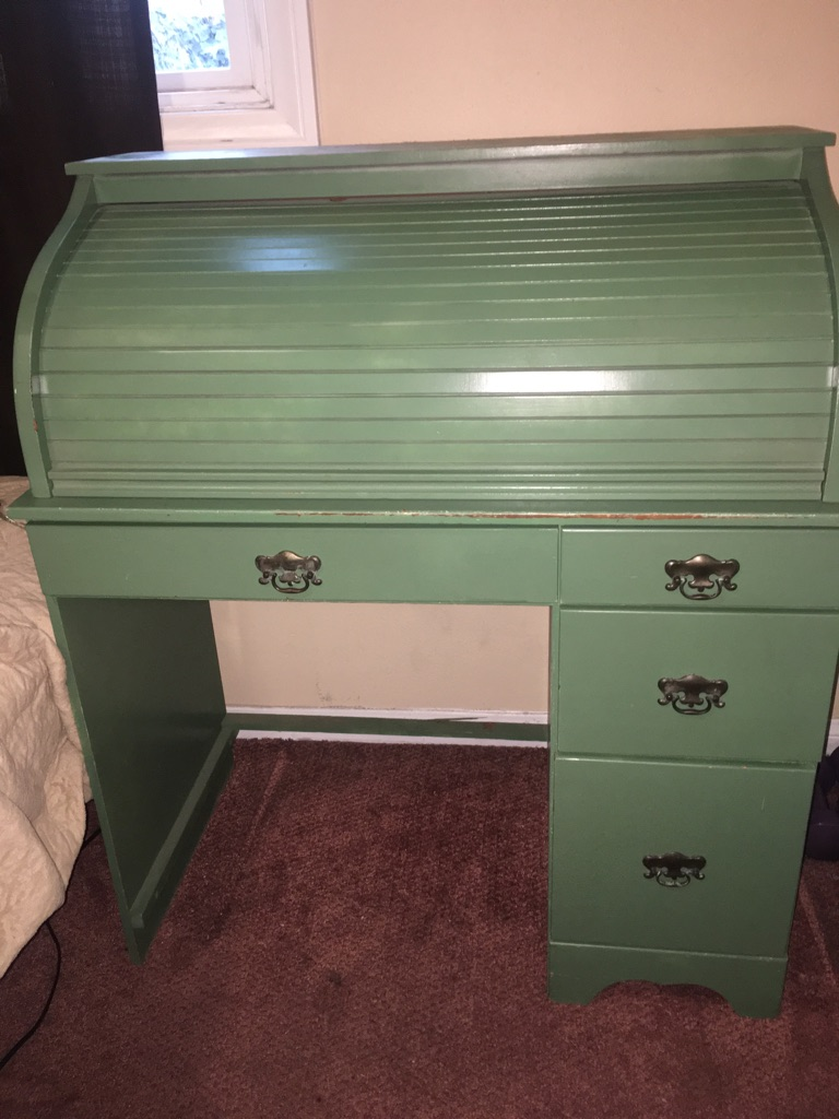 Small Mint Green Vintage Looking Desk