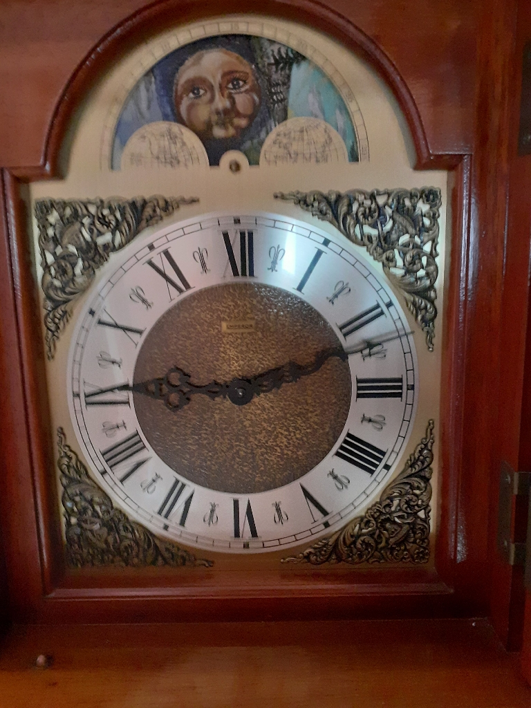 Emporer grandfather clock with moonphase and Westminster chimes