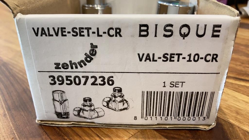 Zehnder Sfera Bow towel rail white 1750mm x 498mm plus chrome valves - brand new