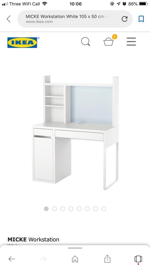 Ikea child's desk and storage shelf and drawers