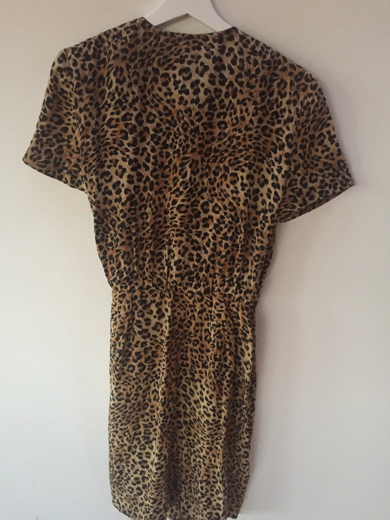 Animal print dress, size L