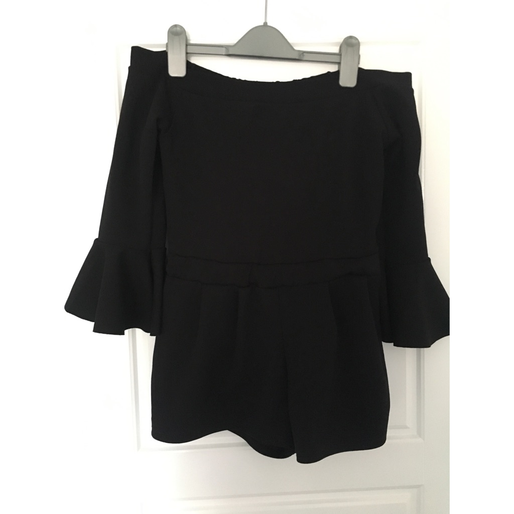 I-X London Black Playsuit. Size 12.