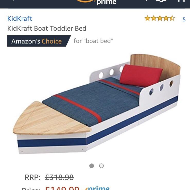 KidKraft Toddler Boat Bed