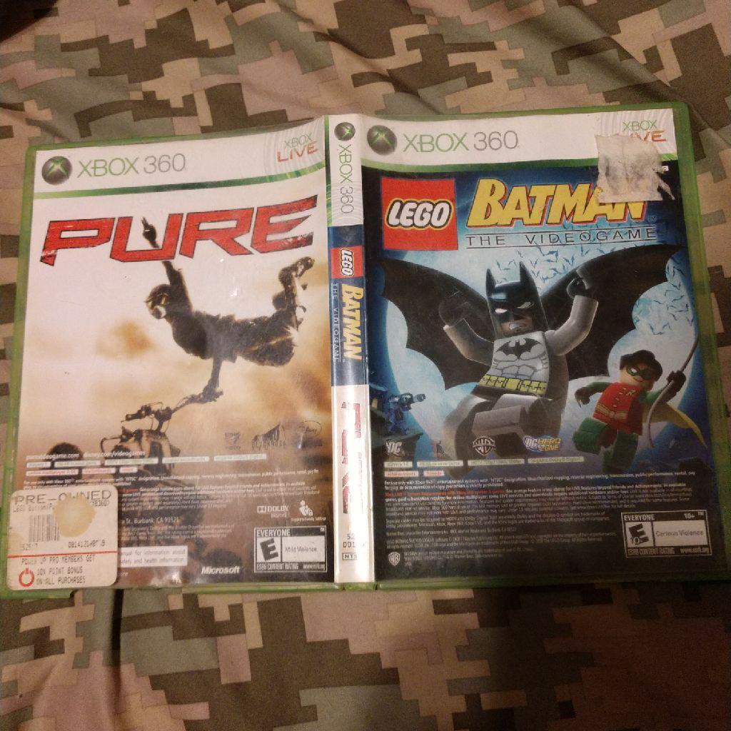 Batman game and Pure racing game