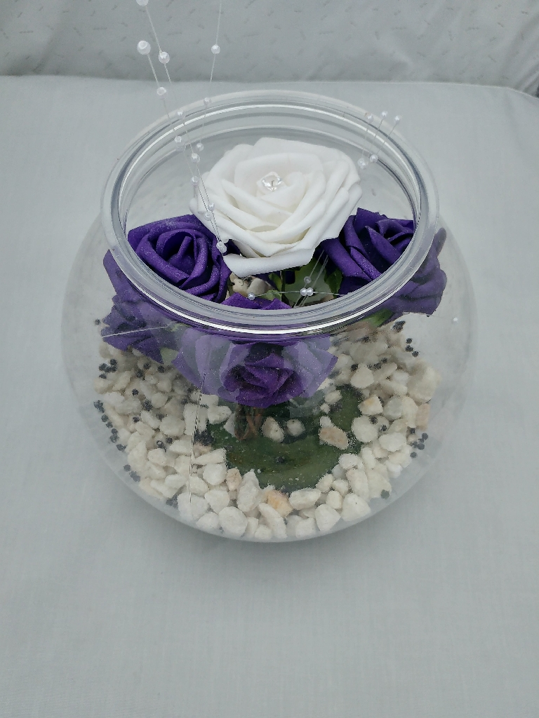 Wedding centre pieces purple