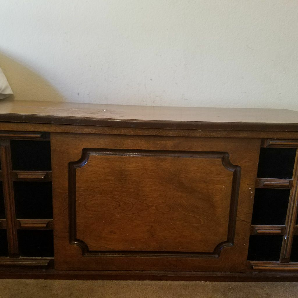 Solid wood hope chest