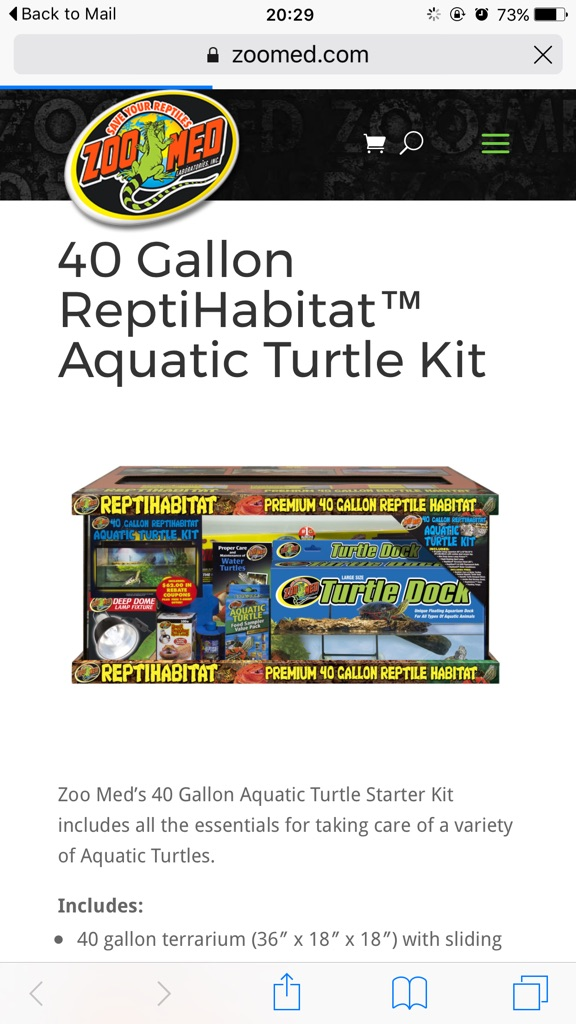 Aquatic Turtle Kit - Turtle Aquarium