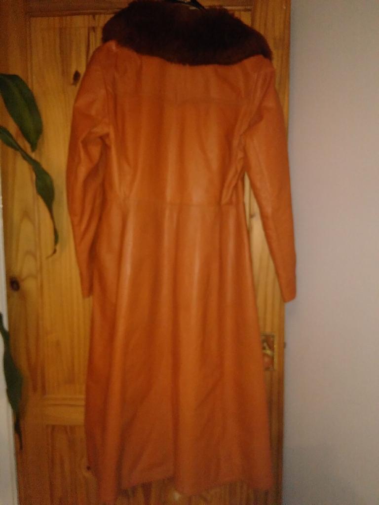 Vintage Ladies Leather Coat