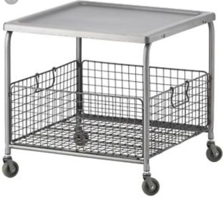 Mobile Steel Coffee Table - LALLEROD (IKEA)