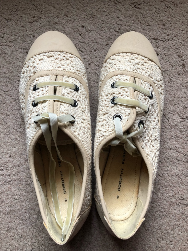 Dorothy Perkins Lace Crochet Brogues, 5, New