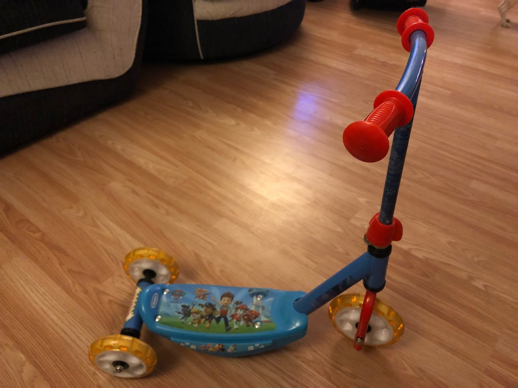 Paw patrol scooter red tractor and Spider-Man bike
