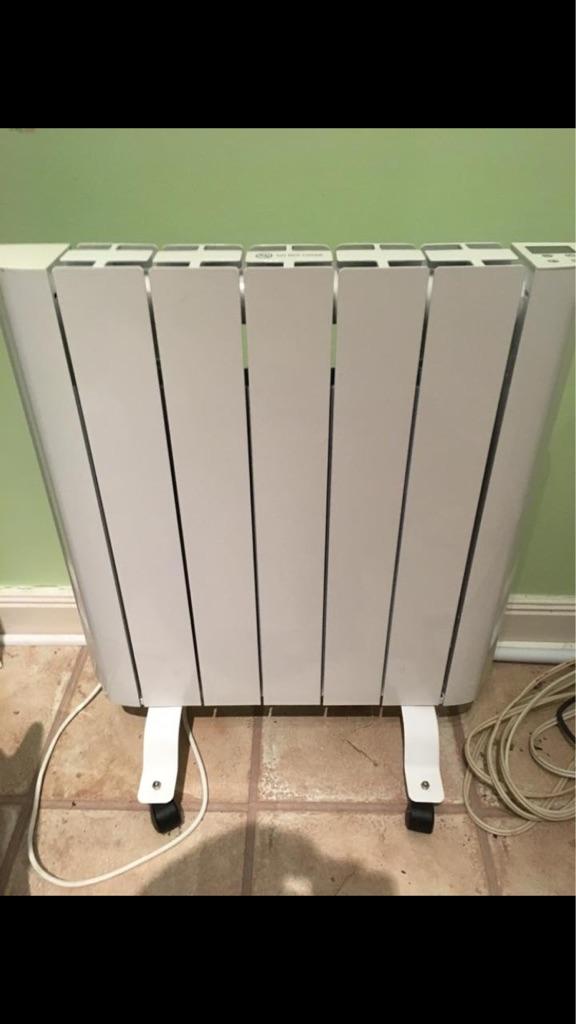 Aluminium electric free standing radiator
