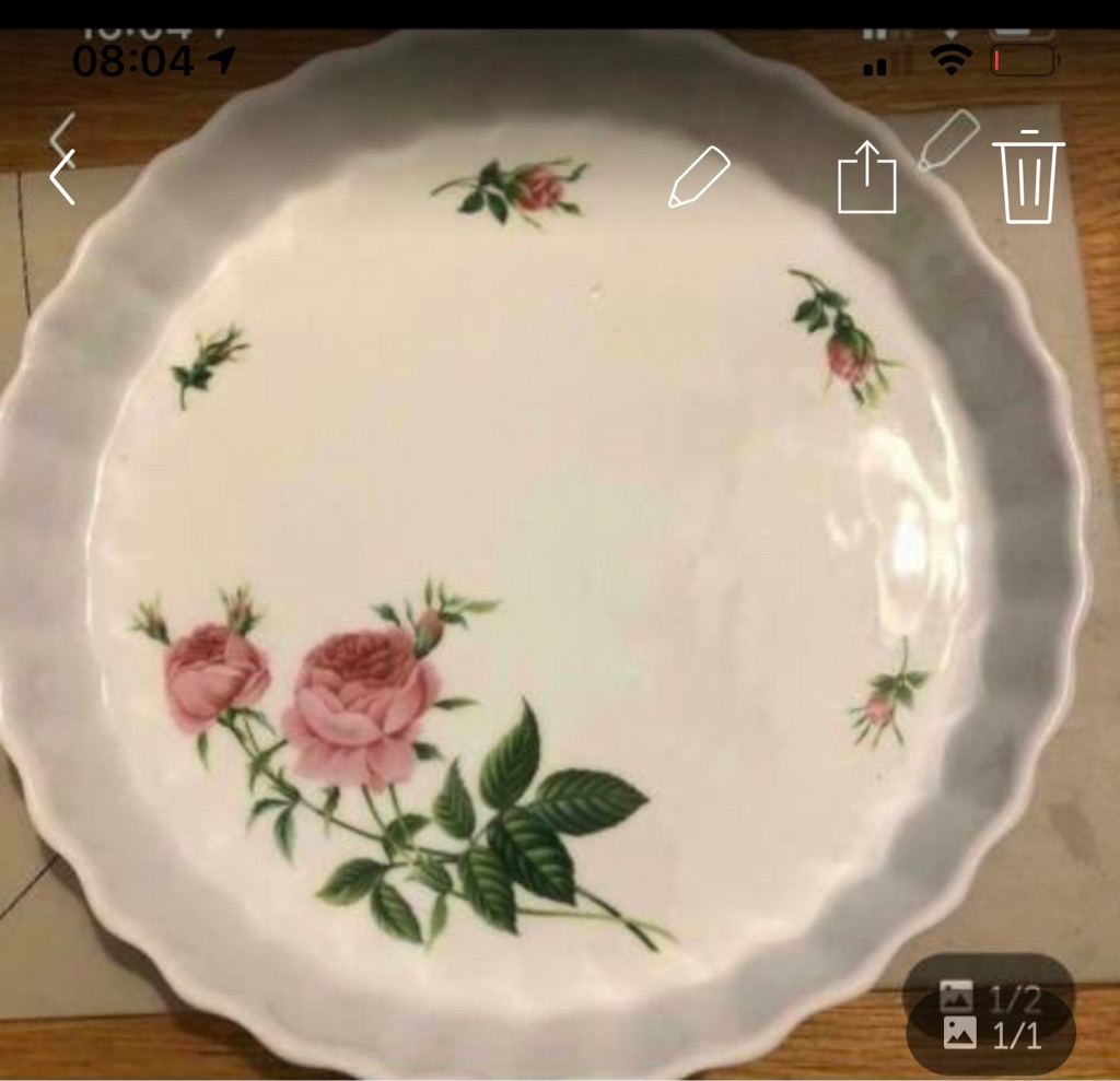 Quiche/flan dish