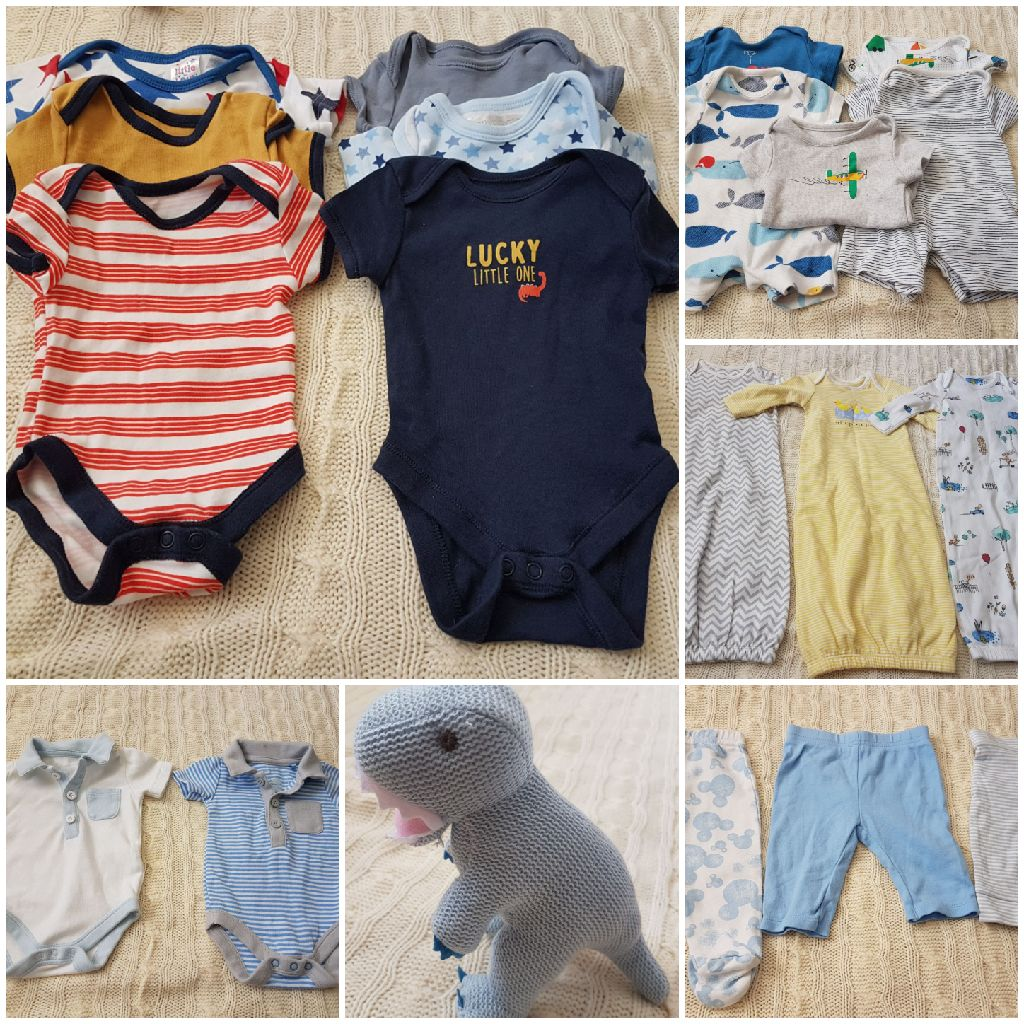 Baby boy newborn/first size clothes bundle - with free toy!