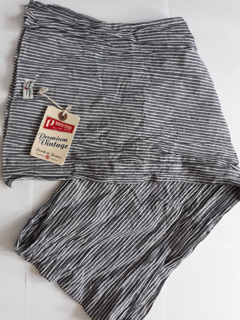 Premium Vintage Jack & Jones stripy scarf RRP £14.99, 100% cotton