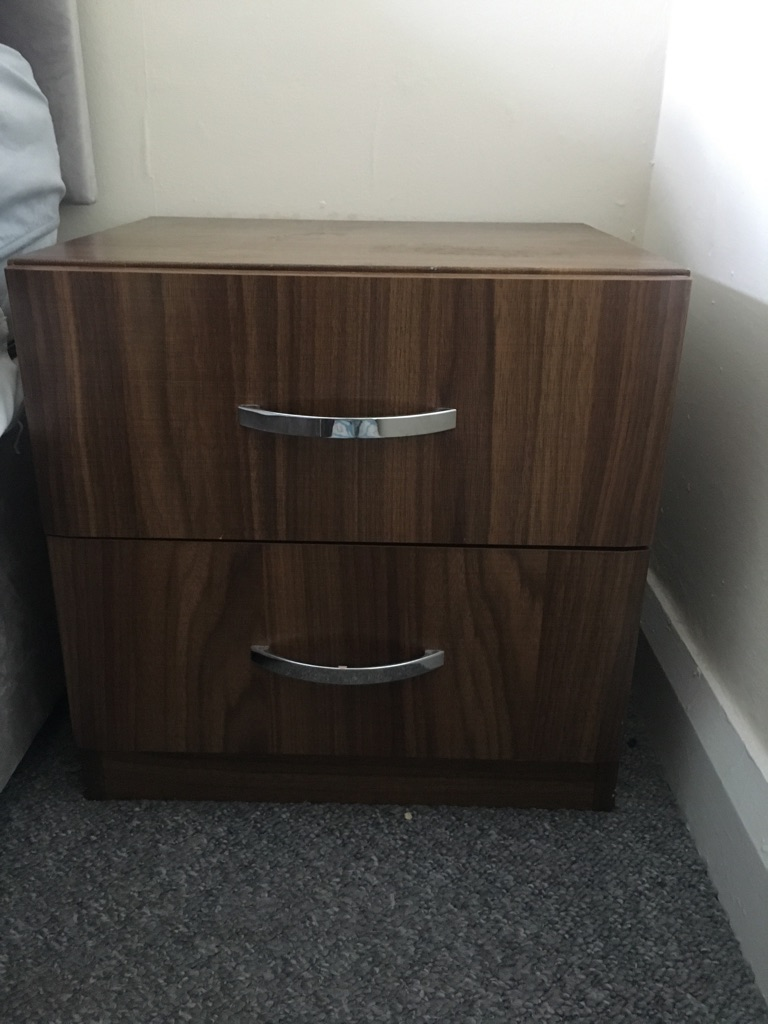 Brown bedside table