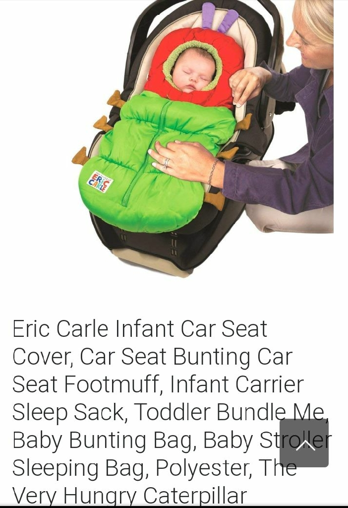 Eric Carle infant car seat cover