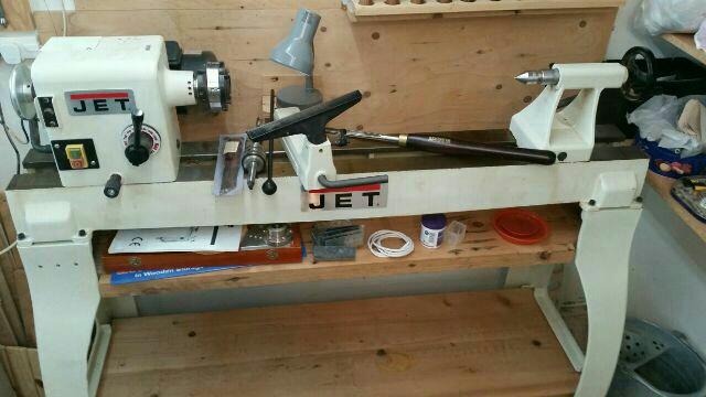 Jet wood turning lathe