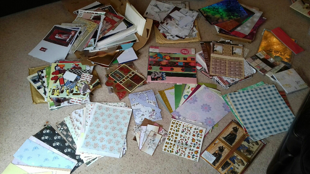 Craft supplies - patterned card and paper
