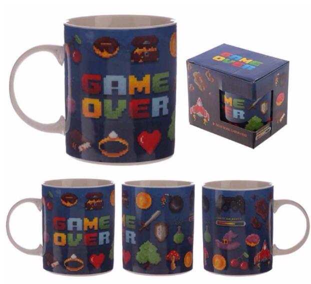 Collectable new bone china mug- game over design
