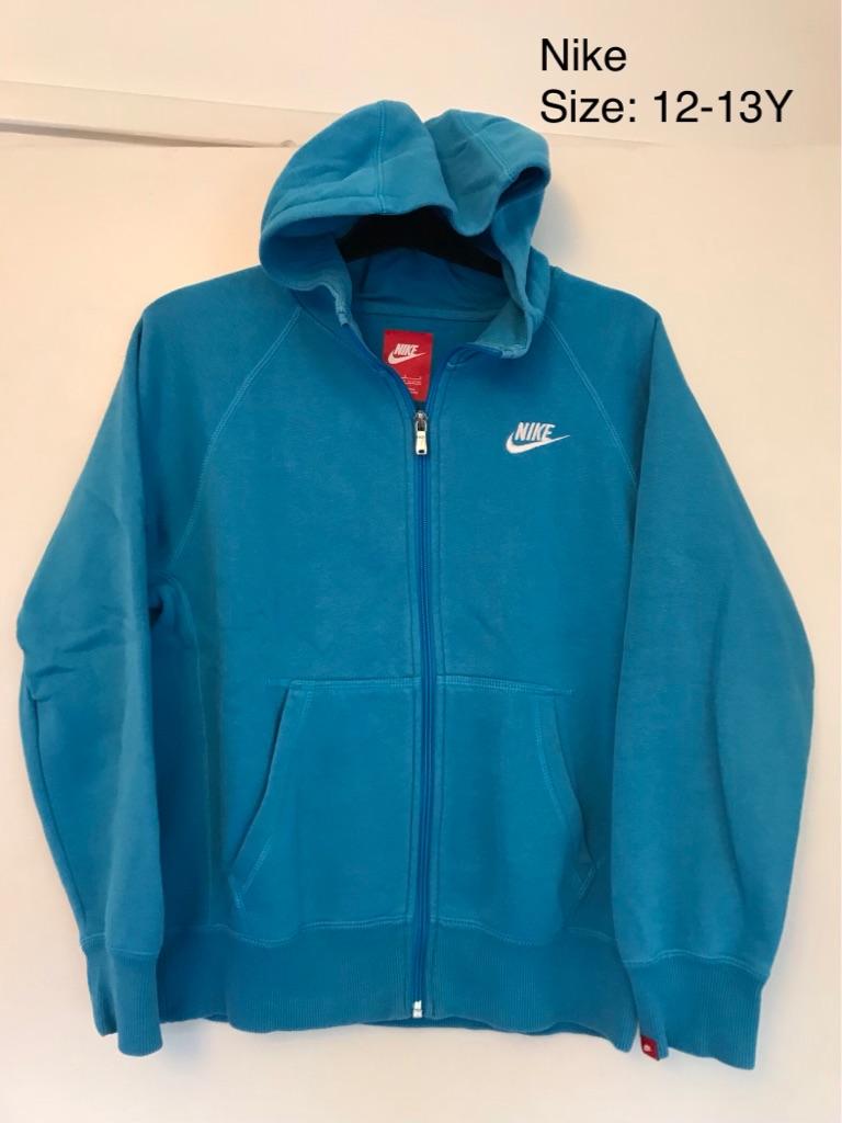 2 Nike Full ZIP Hoodies, 12-13 Yrs, Very Good Condition