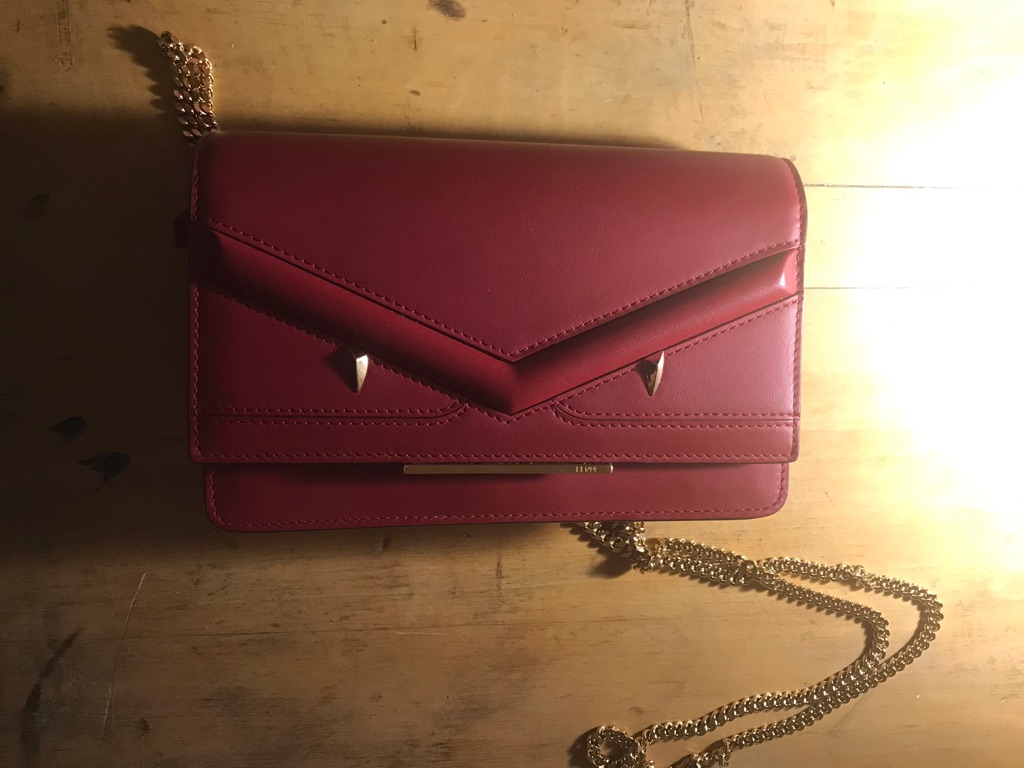 Authentic fendi chain wallet